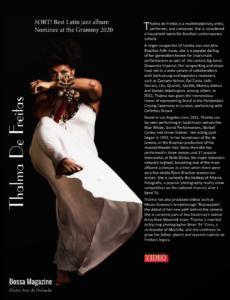 Bossa Magazine Thalma de Freitas Interview Page 1