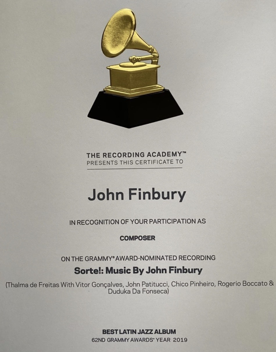 It's Official! Sorte! 2019 Grammy Certificate