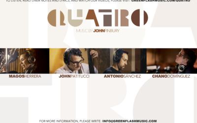 Diverse Unorthodox Jazz John Finbury Featuring Magos Herrera, Chano Domínguez, John Patitucci & Antonio Sánchez – Quatro