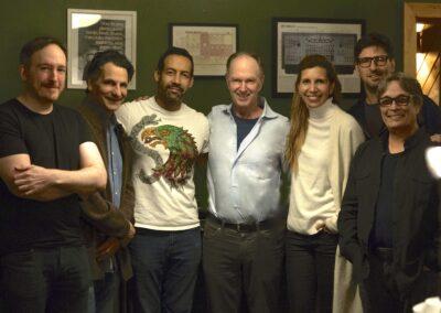 Group Photo of Emilio D. Miler, John Patitucci, Antonio Sánchez, John Finbury, Magos Herrera, Ari Lavigna, Chano Domínguez for Quatro Album