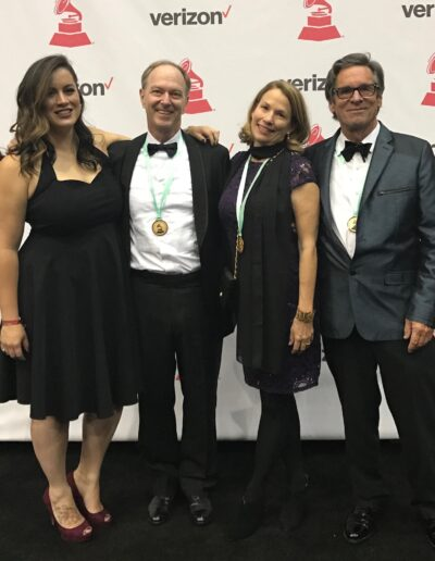 Latin Grammys Photo of Marcella Camargo, John Finbury, Patty Brayden, & Ned Claflin