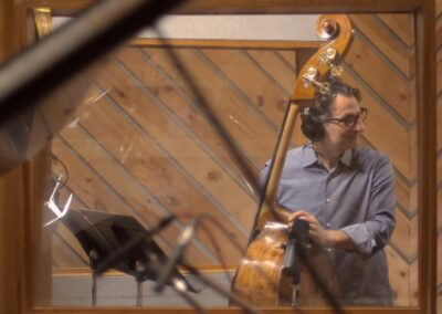 Photo of John Patitucci Recording Quatro for John Finbury